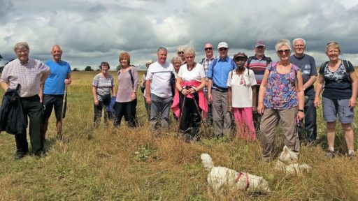 Walking Group near Stoke Bruerne