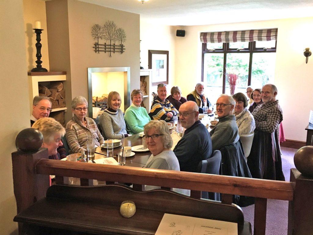 Post-walk lunch at Horseshoe Inn, Sywell