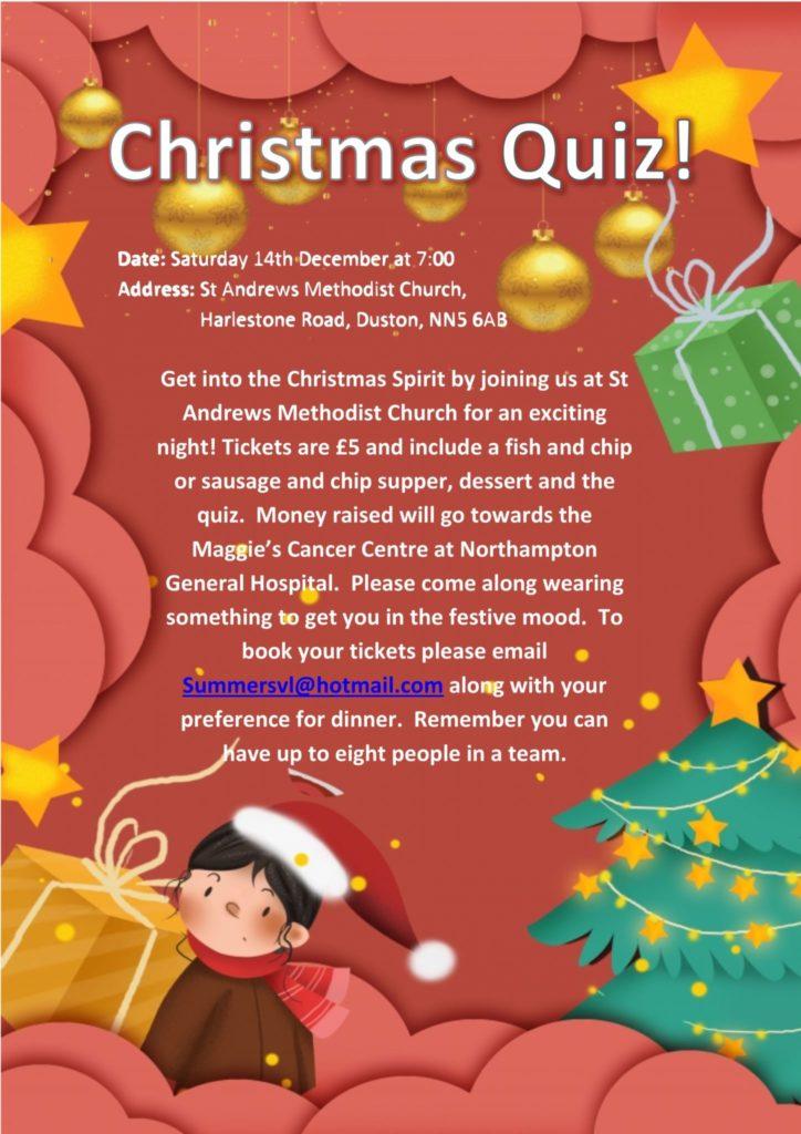Christmas Quiz Night poster