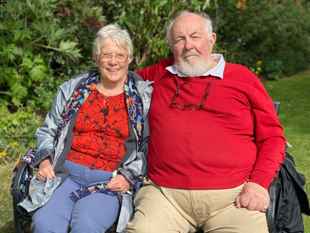 Pauline and George - friends from Moulton